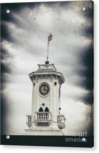 The Old Clocktower  Acrylic Print by Steven Digman