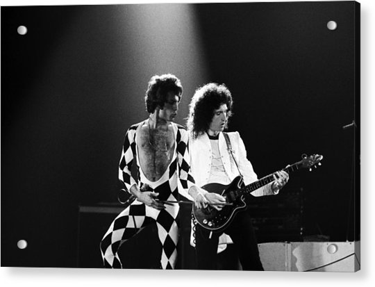 The Rock Group Queen In Concert Acrylic Print by George Rose