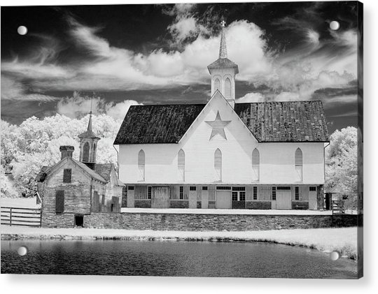 The Star Barn In Infrared Acrylic Print