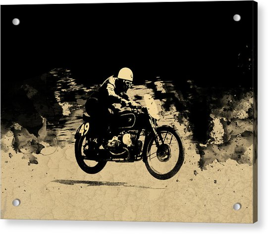 The Vintage Motorcycle Racer Acrylic Print