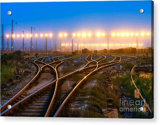 The Way Forward Railway Acrylic Print