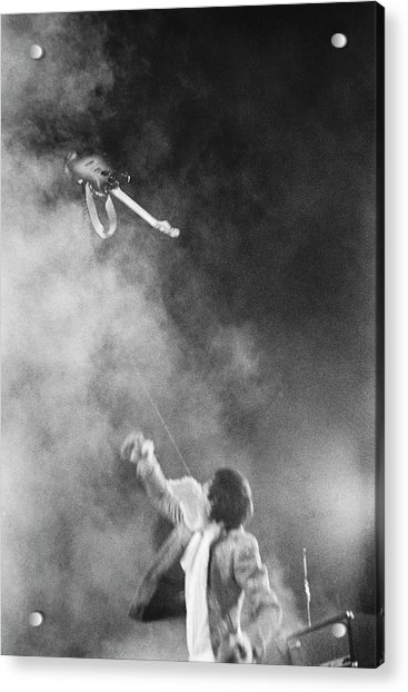 The Who Performing In Flint, Mi Acrylic Print by Michael Ochs Archives