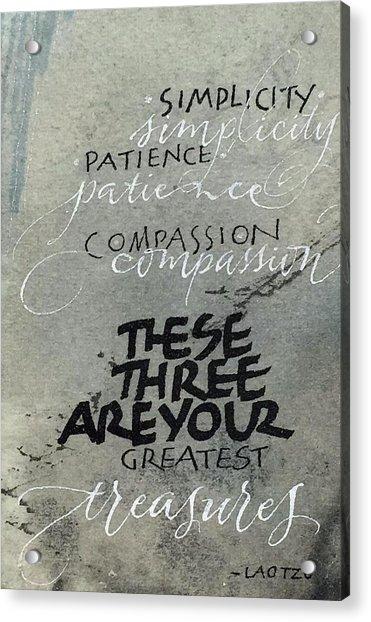 Three Treasures Acrylic Print