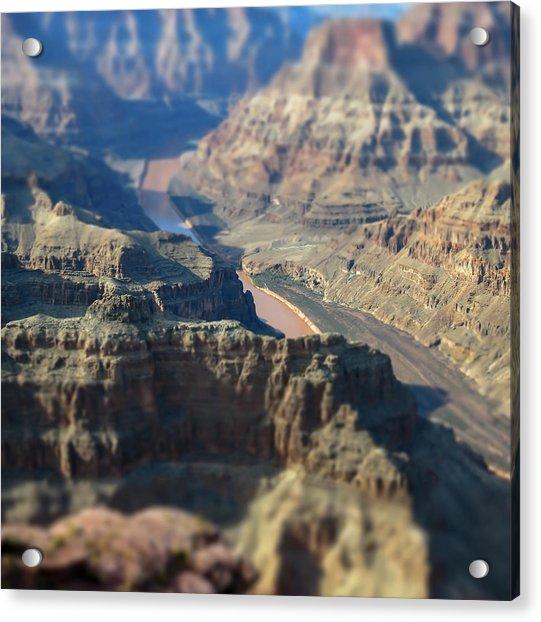 Tiltshifted Grand Canyon Acrylic Print