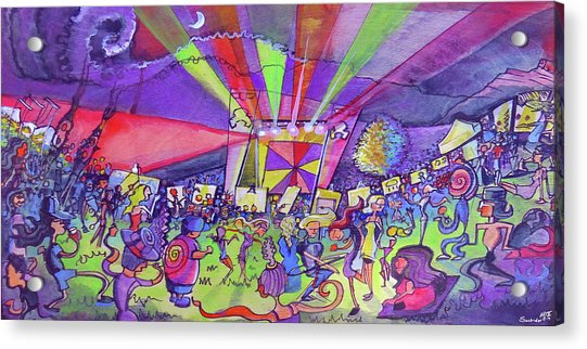Arise Fest 2019 Live Painting While Tipper And Clozee Played. Acrylic Print