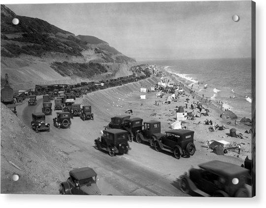 Topanga State Beach 1920 Acrylic Print