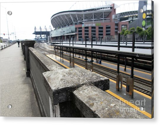 Train Tracks Servicing King Street Station Near Centurylink Field And T-mobile Park Seattle R1423 Acrylic Print