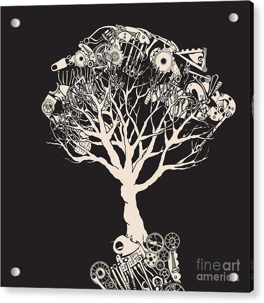 Tree Tech. Heads On Wire Acrylic Print