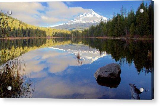 Trillium Lake Morning Reflections Acrylic Print