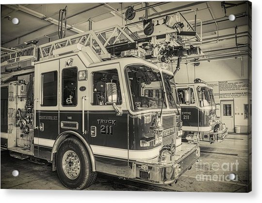 Truck And Engine 211 Acrylic Print