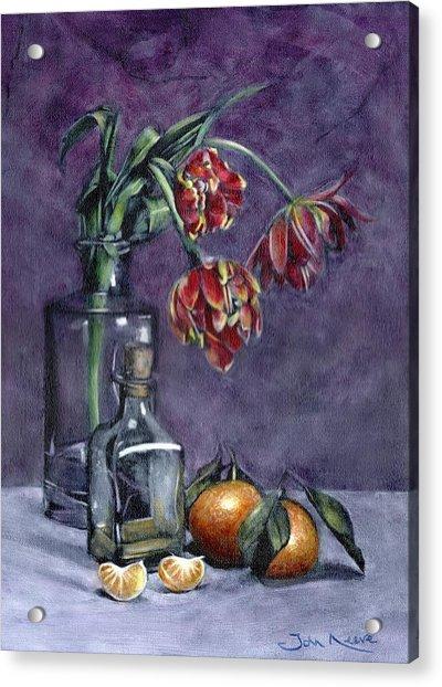 Tulips And Oranges Acrylic Print
