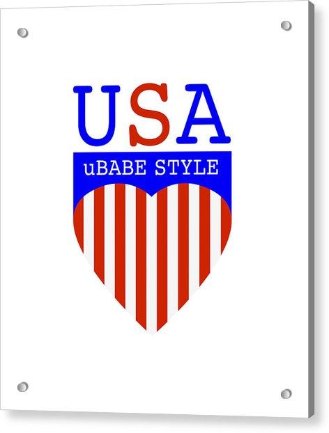 Ubabe Style America Acrylic Print