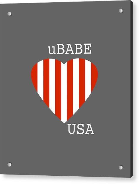 uBABE USA Acrylic Print