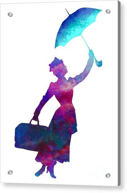 Umbrella Lady Acrylic Print