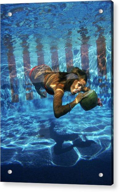 Underwater Drink Acrylic Print