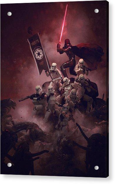 Vader Vs Aliens 2 Acrylic Print
