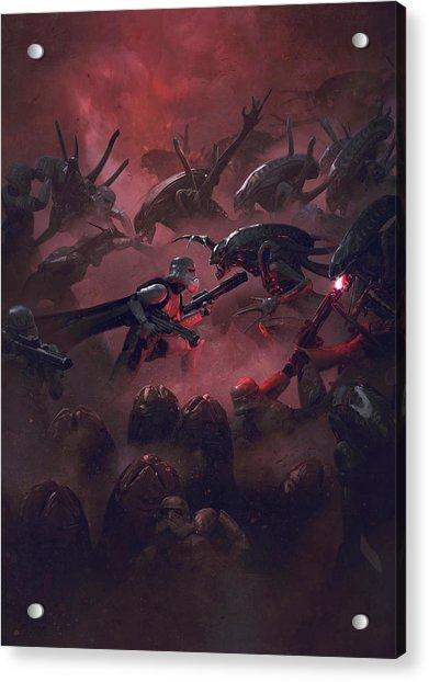 Vader Vs Aliens 5 Acrylic Print
