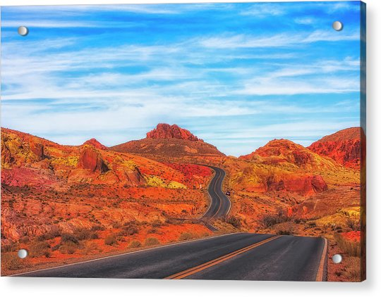Valley Road Acrylic Print by Fernando Margolles