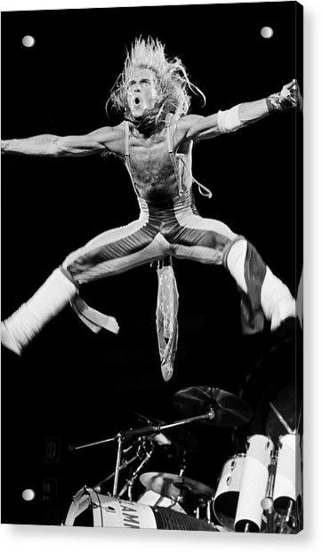 Van Halen In Concert At The Forum Acrylic Print by George Rose
