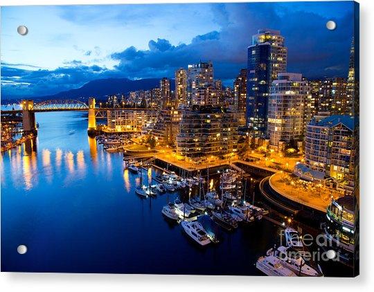 Vancouver Night View Acrylic Print
