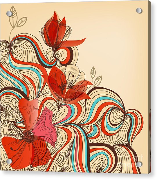 Vector Floral Background Acrylic Print