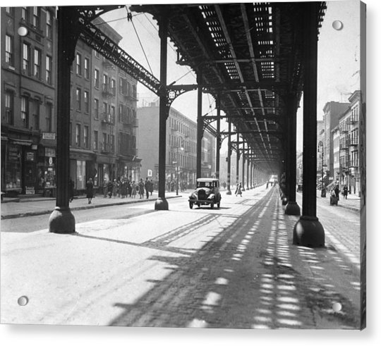 View From 38th St. And Second Ave Acrylic Print by New York Daily News Archive