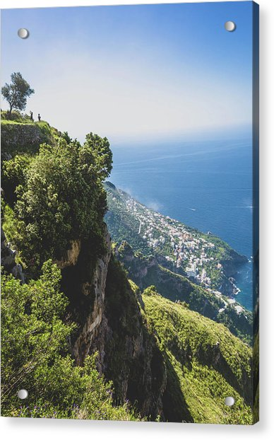 View Of Amalfi Italy From Path Of The Gods Acrylic Print