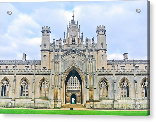 View Of St Johns College, University Of Acrylic Print by Javen