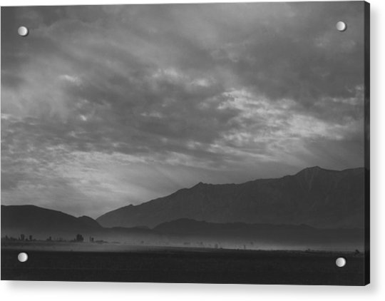 View Sw Over Manzanar, Dust Storm Acrylic Print by Buyenlarge