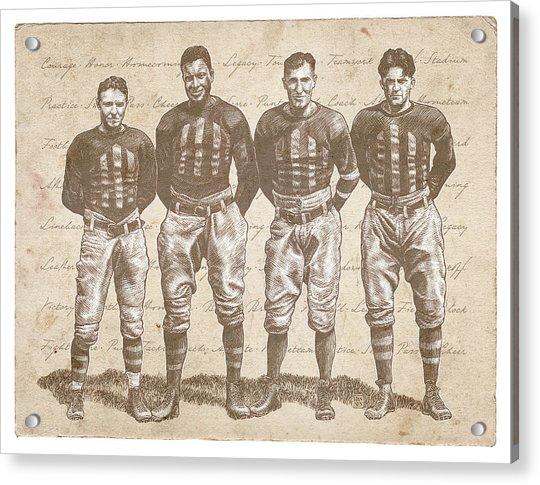 Vintage Football Heroes Acrylic Print