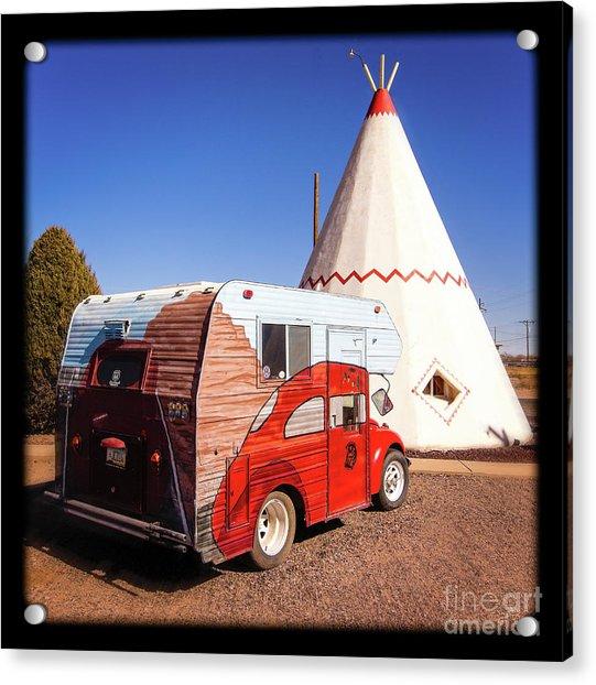 Vintage Volkswagon Beatle Camper  Acrylic Print