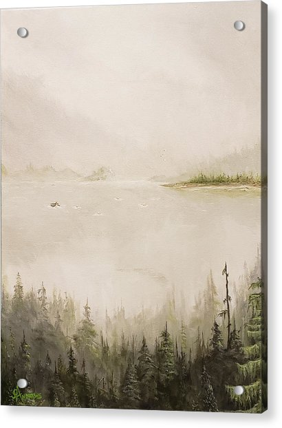 Waiting For The Eagle To Come Acrylic Print