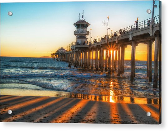 Watching The Sunset Acrylic Print by Fernando Margolles