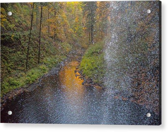 Waterfall Waterdrops Acrylic Print