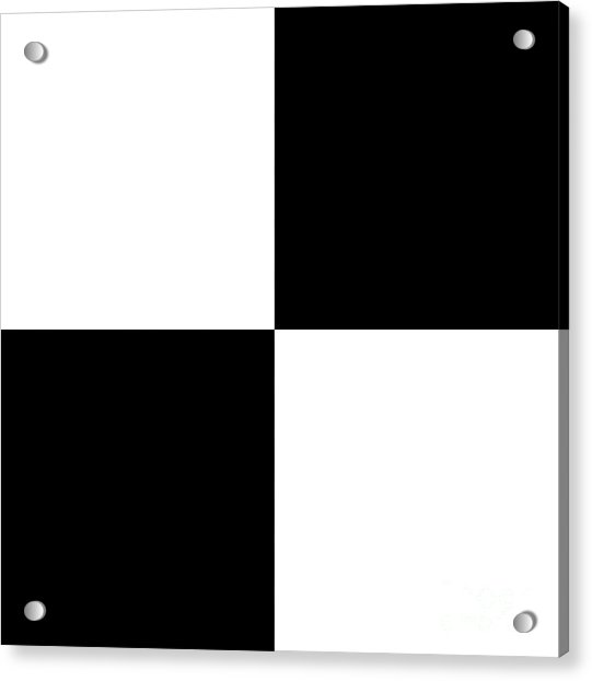 White And Black Squares - Ddh588 Acrylic Print