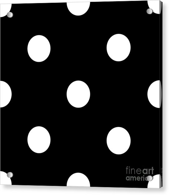 White Dots On A Black Background- Ddh612 Acrylic Print