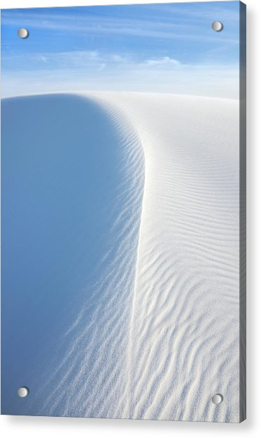 White Wave, White Sands National Monument Acrylic Print