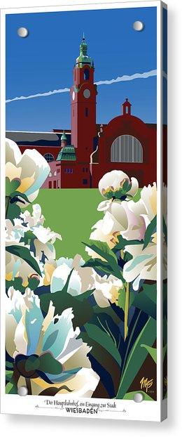 Wiesbaden Hauptbahnhof Acrylic Print