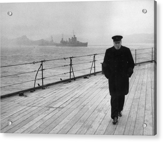 Winston Churchill At Sea Acrylic Print