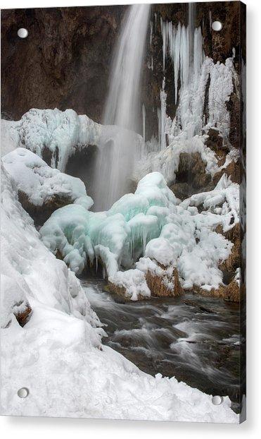 Winter At Rifle Falls Colorado Acrylic Print