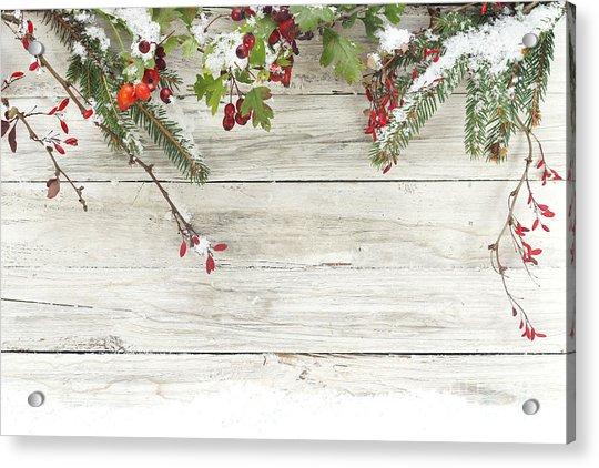 Winter Background Acrylic Print