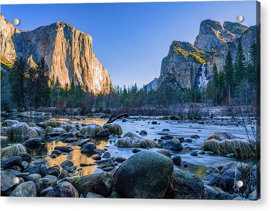 Winter Sunrise At Valley View Acrylic Print