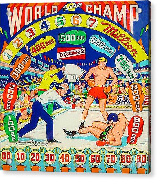 World Champ Pinball Machine Penny Arcade Nostalgia 20181225 Square Acrylic Print