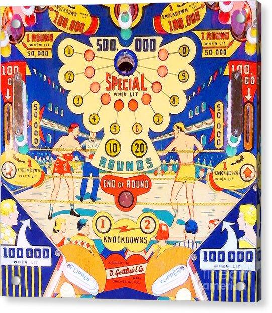 World Champ Pinball Machine Penny Arcade Nostalgia 20181225 V2 Square Acrylic Print