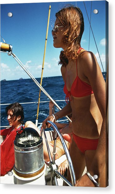 Yachting In The Caribbean Acrylic Print