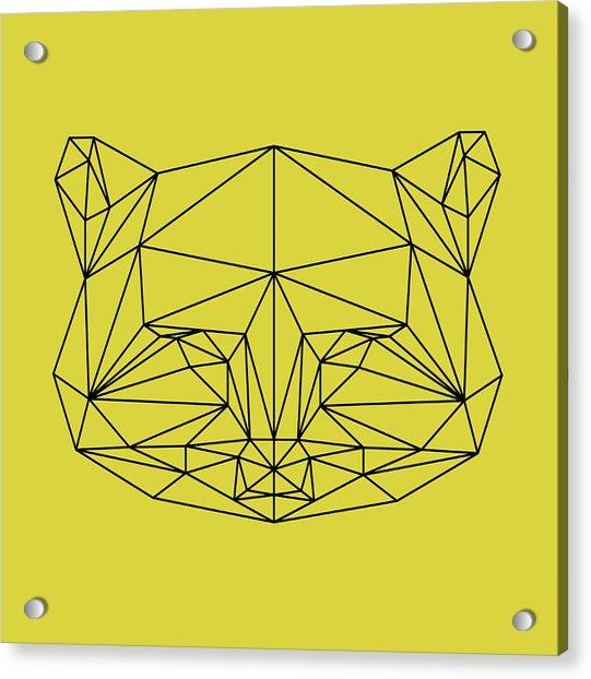 Yellow Raccoon Polygon Acrylic Print