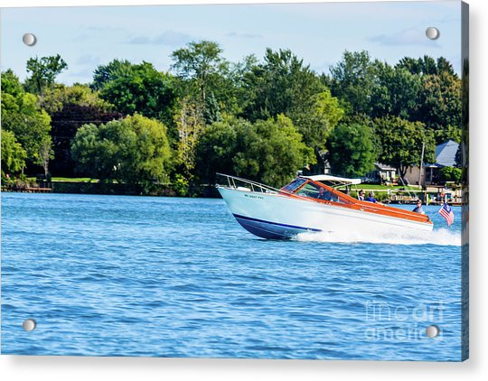 Yes Its A Chris Craft Acrylic Print