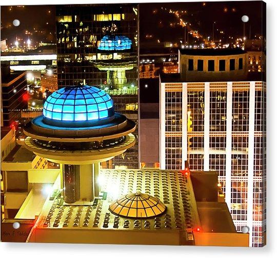 Yesterday's Future - Classic Atlanta Skyline Acrylic Print