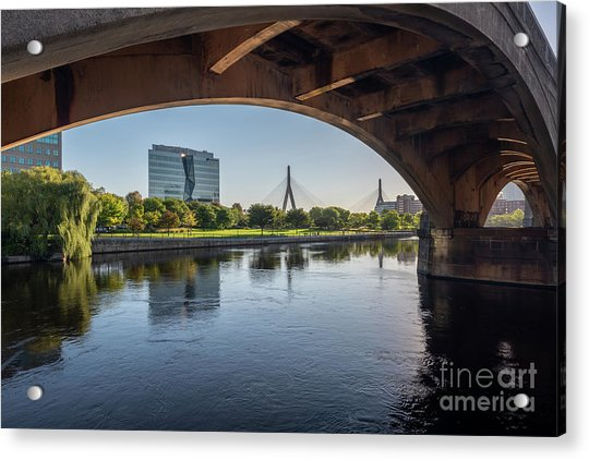 Zakim From The Charles Acrylic Print