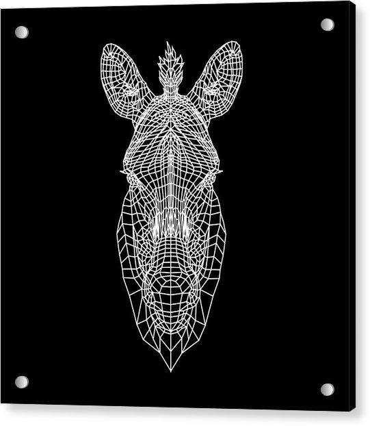 Zebra Mesh Acrylic Print